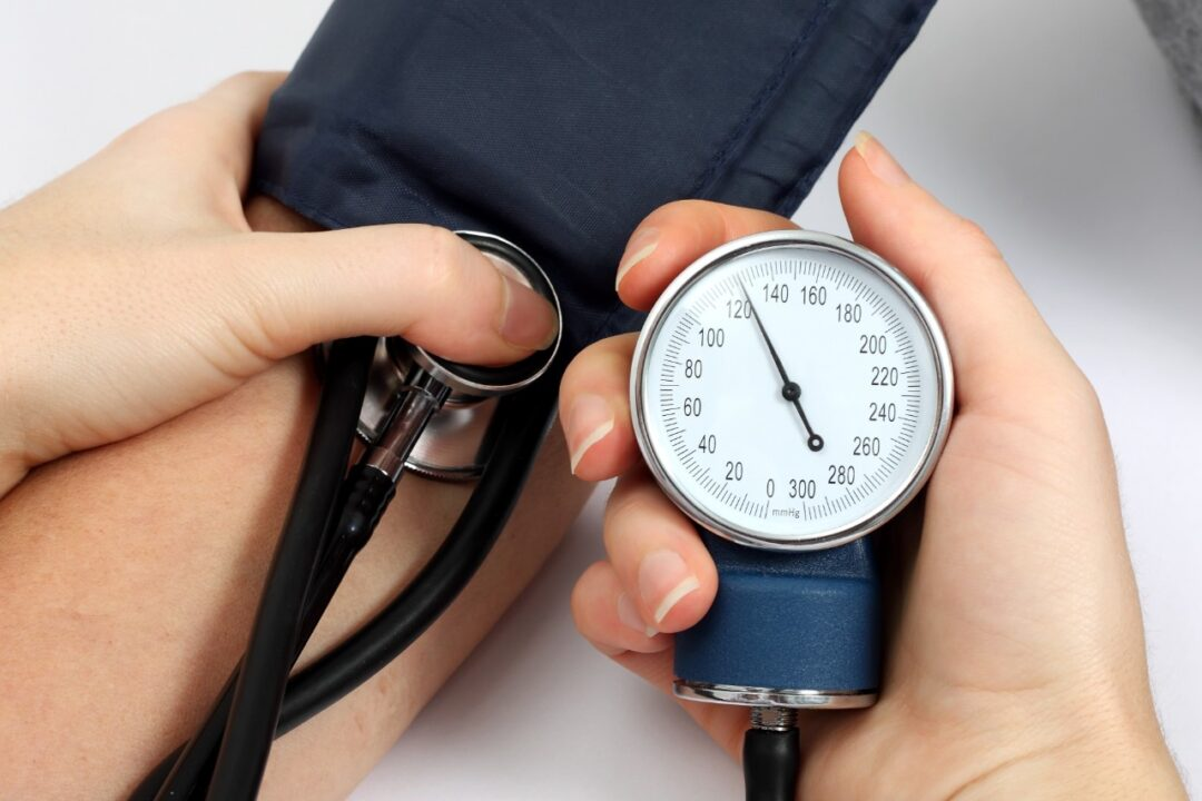 What are the effects of high blood pressure in the brain?