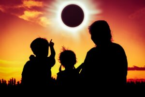 What is the safe way to observe a solar eclipse?
