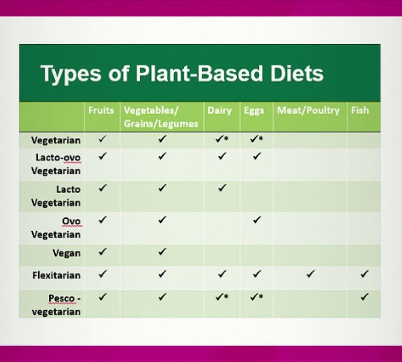 Types of Plant Based Diets