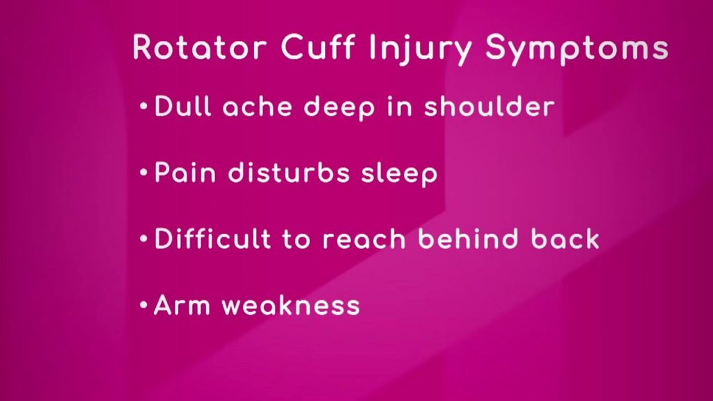 Symptoms of Rotator Cuff Injury
