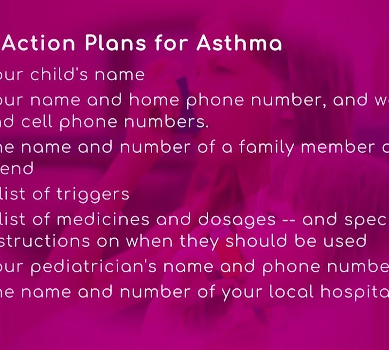 Children: Action Plans for Asthma